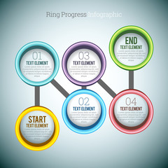 Ring Progress Infographic