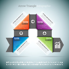 Arrow Triangle Infographic