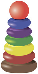 Pyramid stacking rings toy