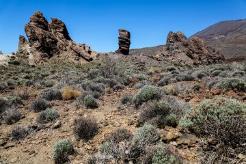 Teide National park at Teneife, Spain