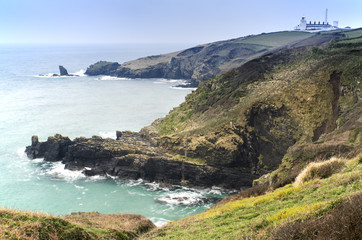 Lizard Point and lighthouse, the most Southerly point in Britain