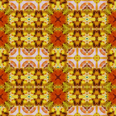 Seamless pattern, oil painting