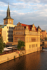 The Smetana Museum in Prague, as seen from the Charles Bridge