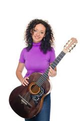 guitar woman player portrait