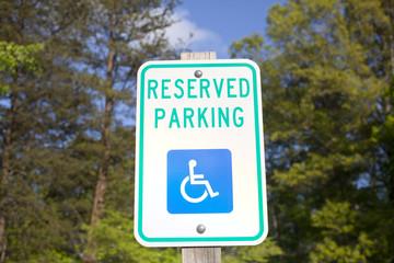 Handicapped Reserved Parking Sign
