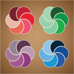 Abstract colorfule vector label
