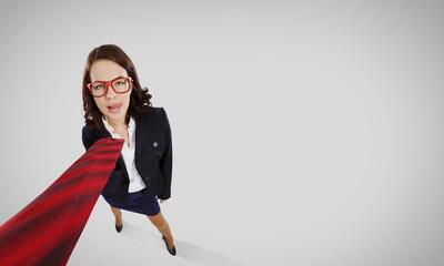 Funny businesswoman