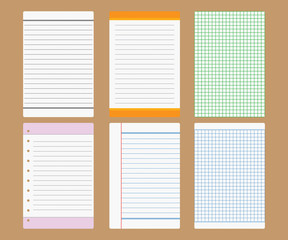 Vector note paper design
