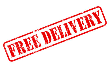 Free delivery red stamp text
