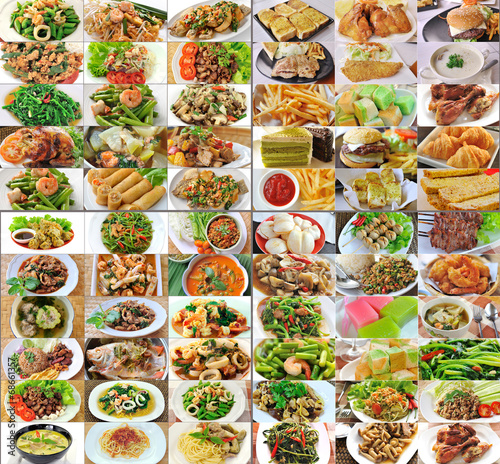 canvas print picture thailand food