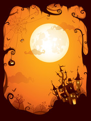 Halloween border for design
