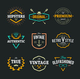 Fototapety Vector Hipster Emblems