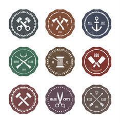 Crafts Emblems Vector Set