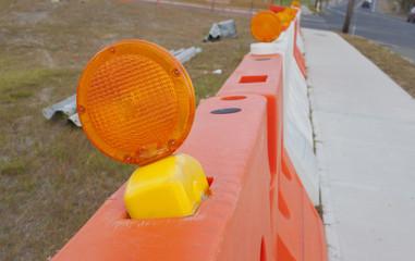 A construction barrier.