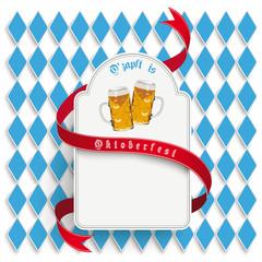 Munich Oktoberfest White Round Long Emblem