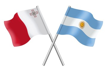 Flags : Malta and Argentina