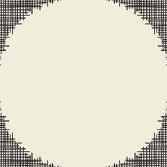 Abstract canvas hole grungy frame. Vector