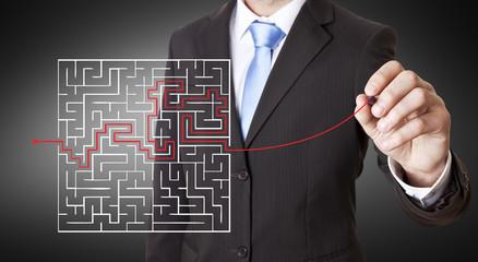 Businessman maze concept