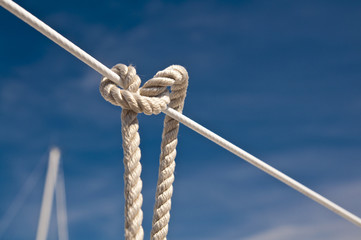 Sailing knot on a yacht