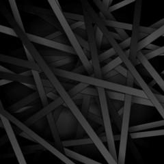 Dark striped tech vector background