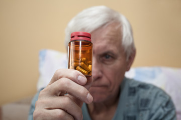 Ill senior with pills