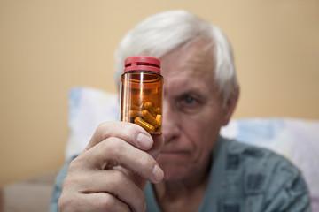 Ill senior with pills