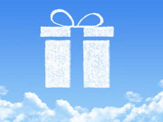 gift box concept cloud shape