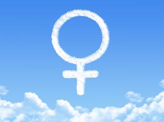 Female symbol concept cloud shape