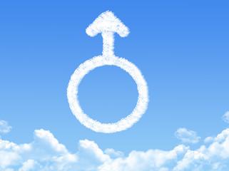 Male symbol concept cloud shape