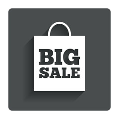 Big sale bag sign icon. Special offer symbol.