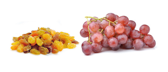 Grapes with raisins