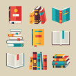 Set of book icons in flat design style. - 68664510
