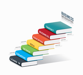 vector book infographic Template.business success concept vector