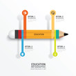 Education pencil Infographics Creative Template. Vector illustra