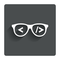 Coder sign icon. Programmer symbol.