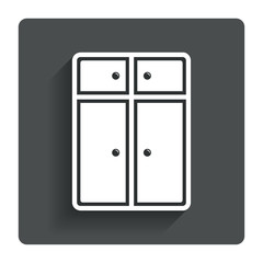 Cupboard sign icon. Modern furniture symbol.