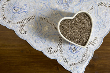 Heart container of Chia Seeds