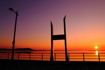 サロマ湖夕陽スポット