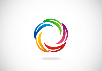 circle stripe communication vector logo