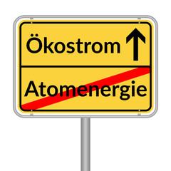 Ökostrom Atomenergie, Schild