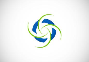 round circle abstract vector logo