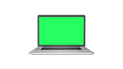 Notebook with Green screen