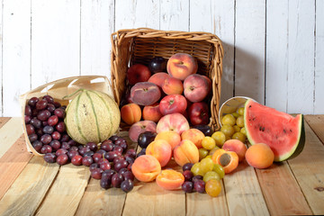 basket of seasonal fruits