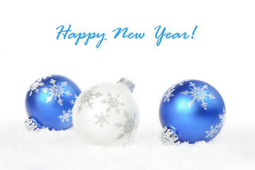 white and blue Christmas decoration