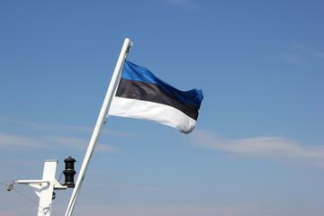 Die Flagge von Estland weht im Wind