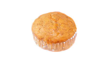 The Isolated banana cup cake