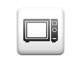 Boton cuadrado blanco 3D simbolo horno