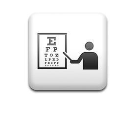 Boton cuadrado blanco 3D simbolo oculista