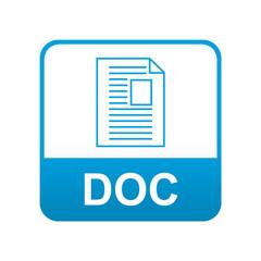 Etiqueta tipo app azul DOC