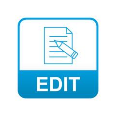 Etiqueta tipo app azul EDIT